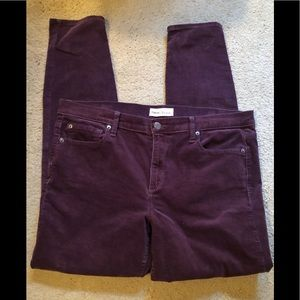 Gap True Skinny Corduroy Pants.  33L